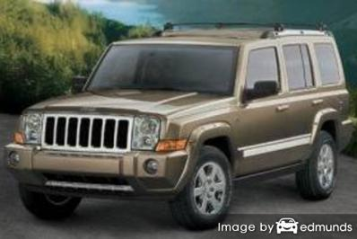 Insurance rates Jeep Commander in Minneapolis